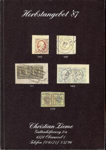 Zieme:    Herbstangebot '87, Christian Zieme - October 1987