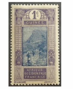 FRENCH GUINEA STAMP 1913 SCOTT # 63. UNUSED