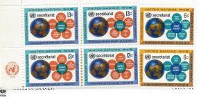 United Nations (New York),181-82,UN Secretariat Insc.B4, MNH