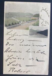 1900 Yokohama Japan Postal Stationery Postcard Cover To Neu Babelsberg Germany