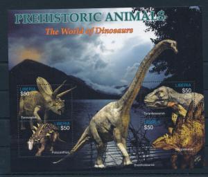 [36107] Liberia 2005 Pre Historic Animals Dinosaurs MN Sheet