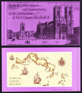 Turks and Caicos 25th Anniversary of Coronation Booklet SG#SB2 SC#354