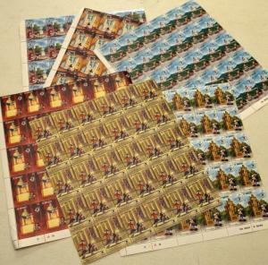 6 St.Vincent Disney US Memorials Topical Animation Stamps Postage Blocks MINT NH