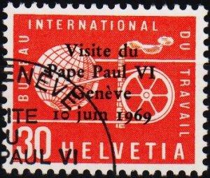 Switzerland. 1969 30c. S.G.LB100  Fine Used