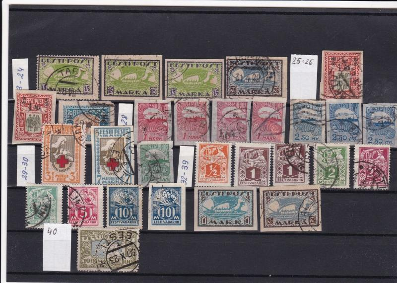 estonia mounted mint & used stamps ref 18500