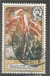SWAZILAND, 1980, used 7c, Flowers. Scott 352