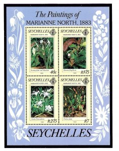 Seychelles 527a MNH 1983 Paintings of Marianne North S/S