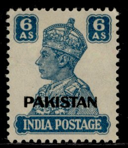 PAKISTAN GVI SG10, 6a turquoise-green, M MINT.