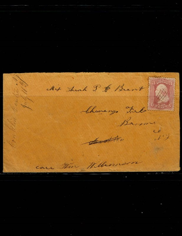 Scott #65 variety VF not tied on cover. With 2018 PSE certificate.