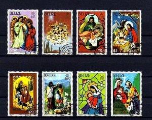 BELIZE - 1980 - CHRISTMAS - ANGEL - NATIVITY - HOLY FAMILY - CTO - NH SET OF 8!