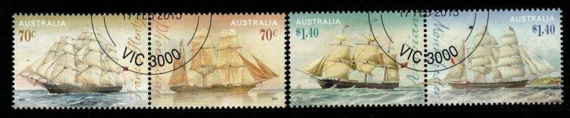 AUSTRALIA SG4324/7 2015 ERA OF SAIL FINE USED