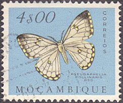 Mozambique # 377 used ~ 4e Butterfly