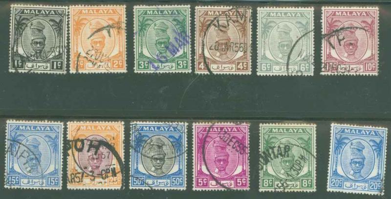 Malaya Perak 105-125 Used VF