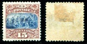 HERRICKSTAMP UNITED STATES Sc.# 118 Brown & Blue Type I, VF OG, Hinged
