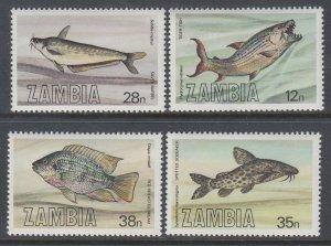 Zambia 288-291 Fish MNH VF