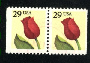 USA 2627   Pair  used 1991-92 PD