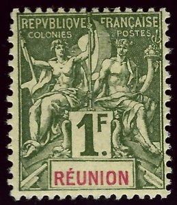 Reunion SC#52 Mint F-VF hr $50.00...Worth a Close look!!