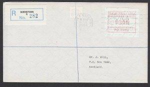 NEW ZEALAND 1986 $1.55 Frama Registered FDC ex Queenstown...................B281