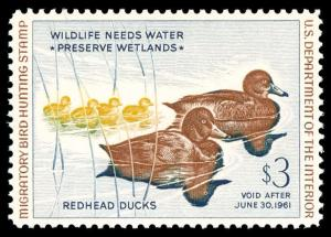 momen: US Stamps #RW27 Duck Mint OG NH XF-SUP