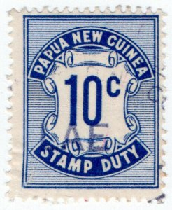 (I.B) Papua Revenue : Stamp Duty 10c
