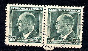 Czechoslovakia Scott # 227, used, pair