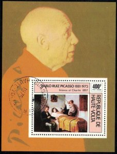 Picasso Painting, Science & Charity, Burkina Faso S/S SC#C222 used
