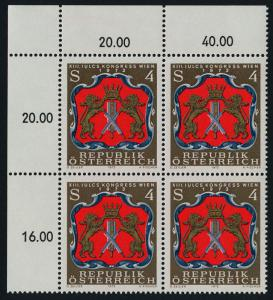 Austria 951 TL Block MNH Arms of the Viennese Tanners, Leather Chemists