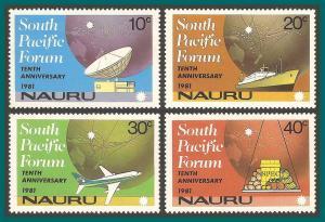 Nauru 1981 South Pacific Forum, MNH 240-243,SG252-SG255