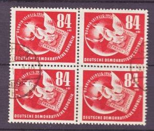 J22443 Jlstamps 1950 germay ddr blk/4 used #b21 dove