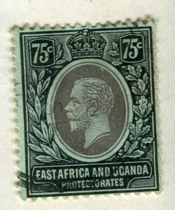 BRITISH KUT; 1912 early GV issue fine used 75c. value