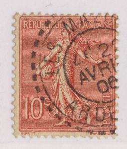 FRANCE - 1906 - CàD FACTEUR-BOÎTIER T.1884  LES MAZURES / ARDENNES  sur n°129