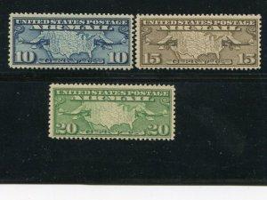 USA  #C7-9  Mint VF NH - Lakeshore Philatelics