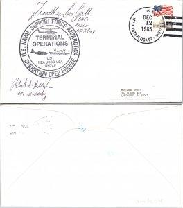 1985 US NAVY + CACHET + SIGNED, 1985, Polar