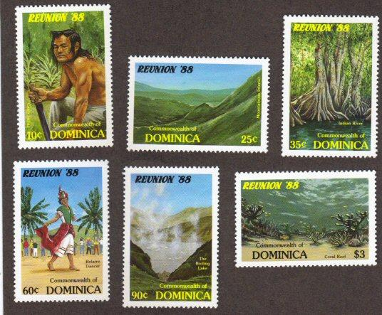 Dominica #1074-79 MNH Reunion/scenery