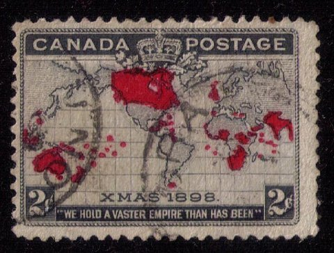 CANADA Sc 85 Xmas 1898 Map Used F-VF