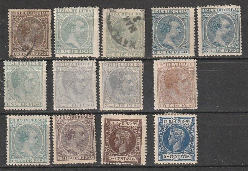 #94,97-8,132,144,146,163,166,P14,P25 Cuba Mint OGH,MNG & Used