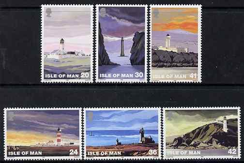 Isle of Man 1996 Lighthouses set of 6 unmounted mint, SG ...