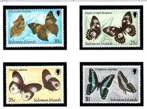 Solomon Is 461-64 MNH 1982 Butterflies