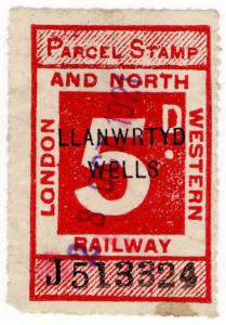 (I.B) London & North Western Railway : Parcel 5d (Llanwrtyd Wells)