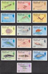 BRITISH ANTARCTIC 1984 Marine Life; Scott 102-16, SG 123-38; MNH