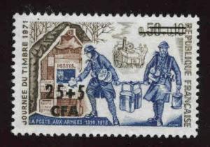 REUNION Scott B36 MNH** CFA overprint on 1971 stamp day stamp