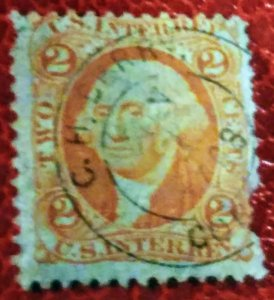 USA R15c 2 cent internal rev. Used F cv$ 70.00