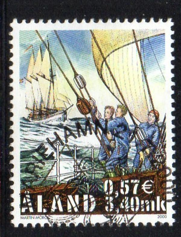 Aland Finland Sc 168 2000 Tall Ships Race stamp used