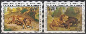 Mauritania #C131-32 F-VF Mint NH ** Paintings of Lions