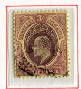 SOUTHERN NIGERIA; 1907 early Ed VII issue fine used 3d. value