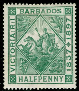 BARBADOS SG117, ½d dull green, M MINT. Cat £10.