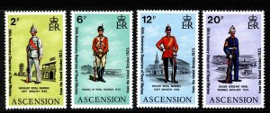 ASCENSION - 1973 - MILITARY UNIFORMS - ROYAL MARINES - MINT - MNH SET!