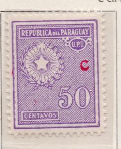 Paraguay 1934-35 Early Issue Fine Mint Hinged 50c. Optd C 169935