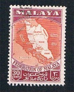 Malaya Federation 81 Used Map of federation (BP2263)