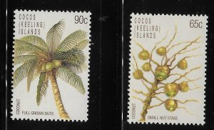 Cocos islands 1988 coconut Tree Sc 174-175 MNH A1681